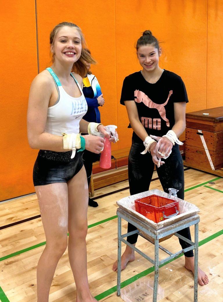 Übung macht den Meister, dies gilt auch für die HT16 Leistungturner. Mit Ehrgeiz und Elan wird geturnt. Leistungsturnen verlangt viel Motivation und Freude von den Mädchen.
